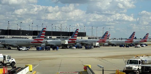 American Airlines Boeings & Airbuses H Pier