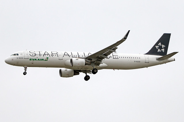 B-16206  -  Airbus A321-211 (SL)  -  EVA Air (Star Alliance Livery)  -  ICN/RKSI 5/10/19