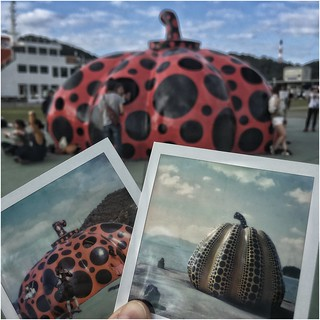Instant Memories ... Pumpkins by Yayoi Kusama at Naoshima, Japan