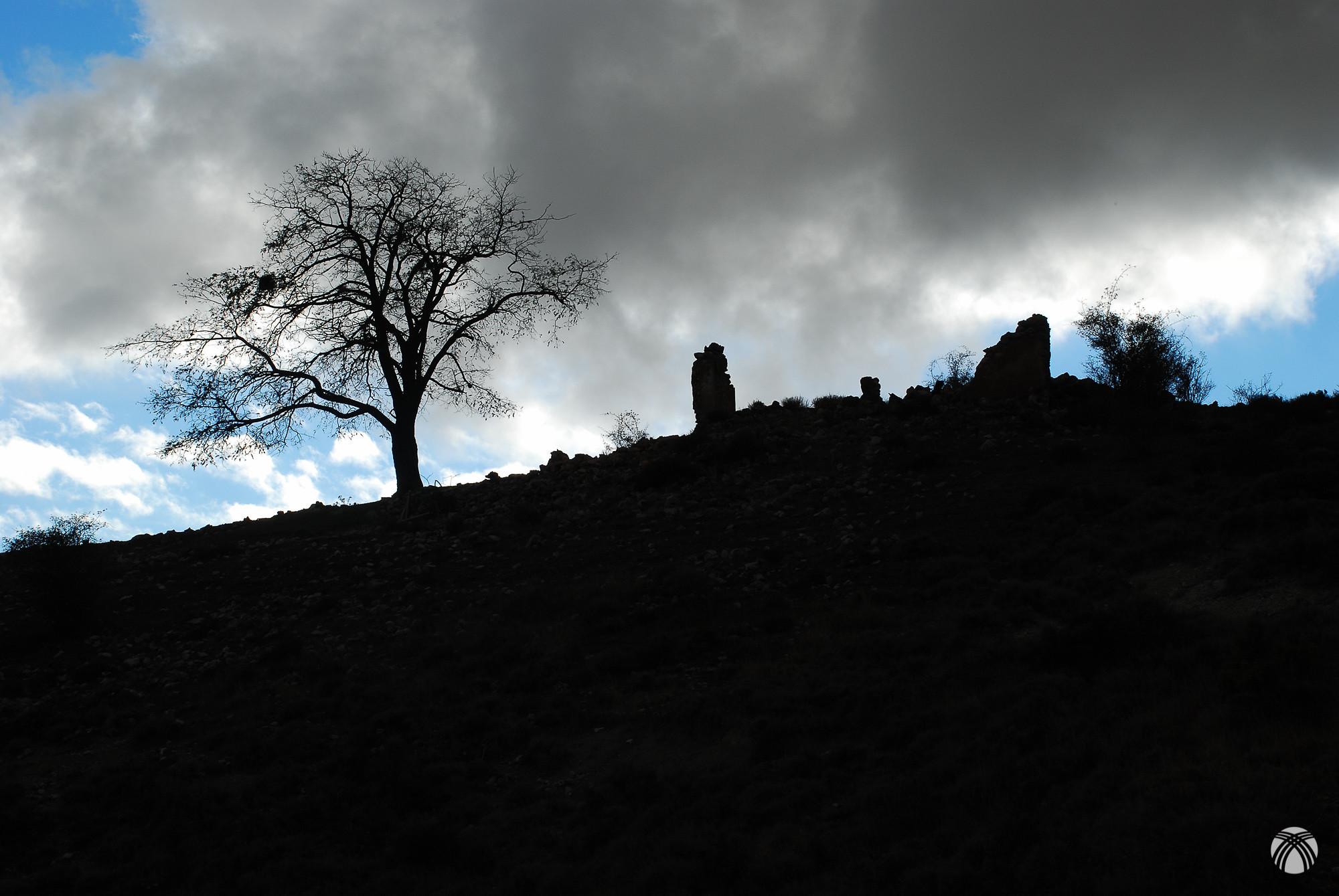 Ruinas a contraluz