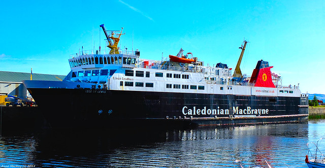 Scotland Greenock docked the car ferry Isle of Lewis 7 September 2019 by Anne MacKay