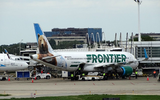 Frontier Airlines Airbus A320-214 N227FR 'Grizwald the Bear'