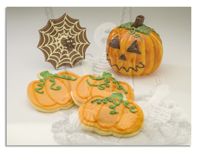 Halloween biscuits and chocolate