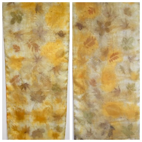 Ecoprints on silk
