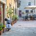 Street scene in Pienza