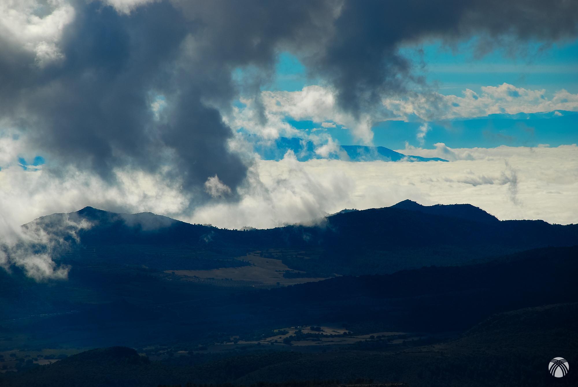 El tiempo inestable en el Cerro Moralejos