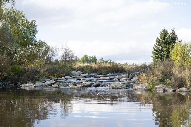 Pieni vesiputous Mustijoella Mäntsälässä