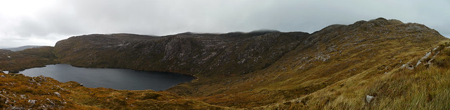 Blue Stack Mountains (Co. Donegal): Looking down on Lough Belshade
