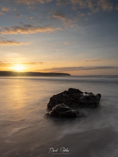 Sunset at Penarronda Beach in Tapia de Casariego