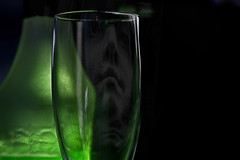 Green glass.