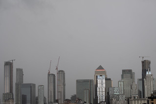Canary Wharf on a stormy day 6