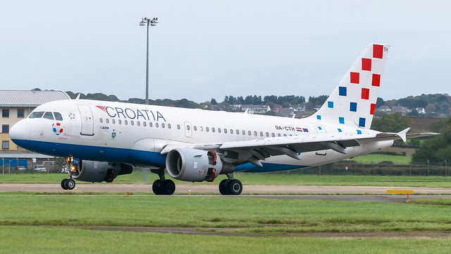 9A-CTH - Croatian a319 @ Cardiff Airport 12/10/19