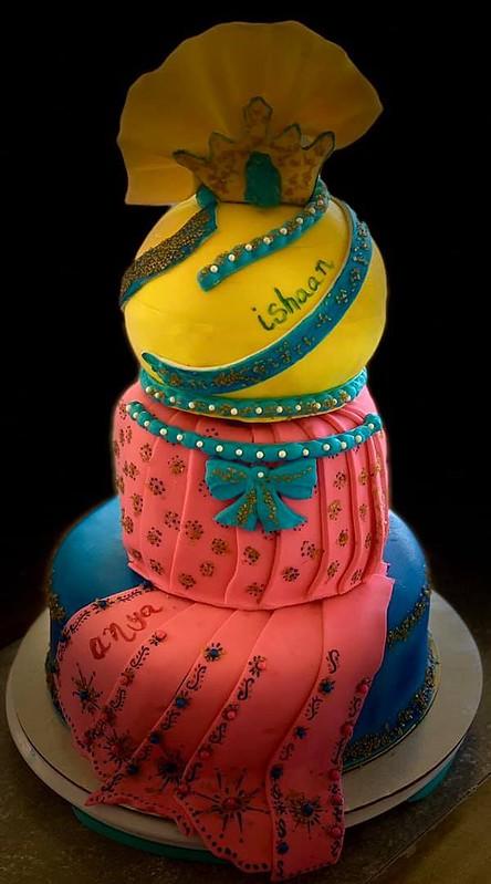 Cake from Lavanya Mosur of Custom Treats by Lavanya