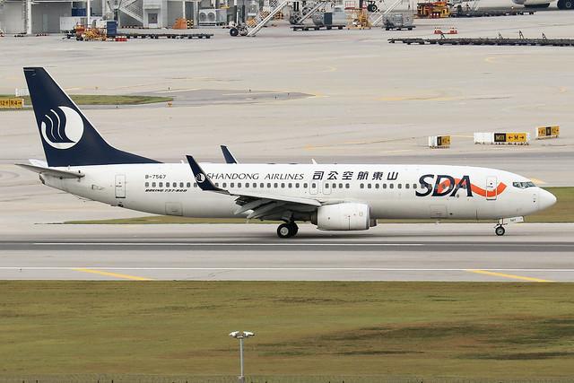 B-7567  -  Boeing 737-85N  -  Shandong Airlines  -  ICN/RKSI 6/10/19