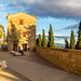 The belvedere walkway in Pienza