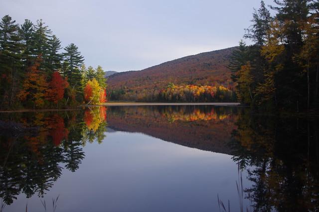 Peak color - flat water