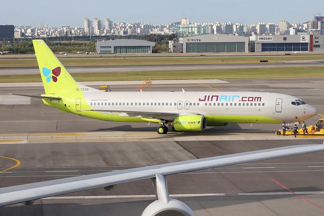 HL7556  -  Boeing 737-86N  -  Jin Air  -  GMP/RKSS 6/10/19
