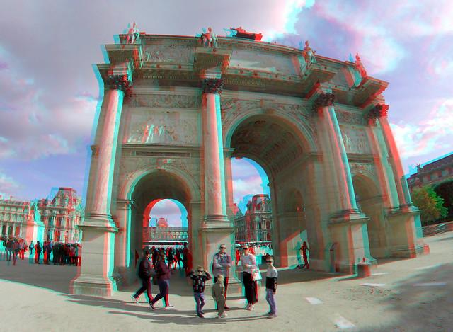 Arc de Triomphe du Carrousel Paris 3D GoPro