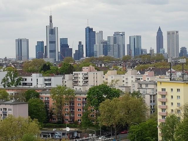 Frankfurt's skyline from a Ferris' Wheel in the east
