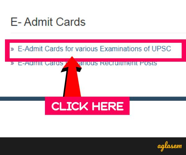 UPSC Admit Card