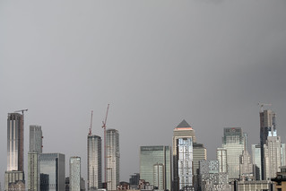 Canary Wharf on a stormy day 5