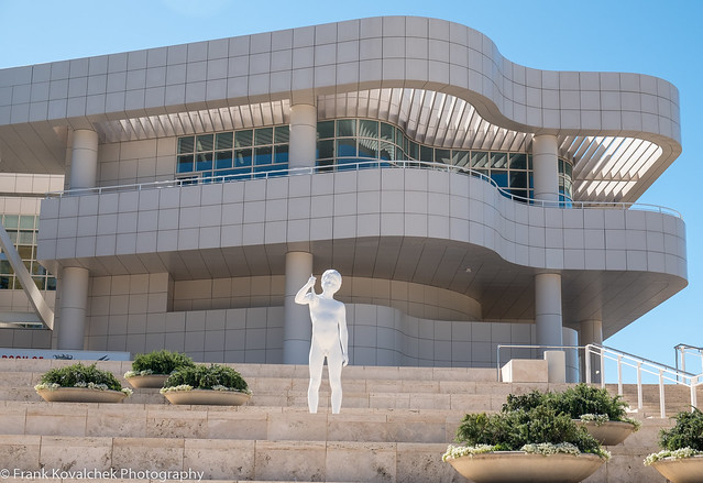 The exterior of the Getty Museum
