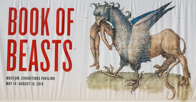 Poster for the Book of Beasts exhibit