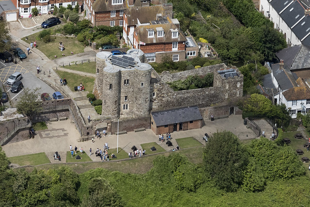 Rye Castle - Ypres Tower in Rye - East Sussex aerial image