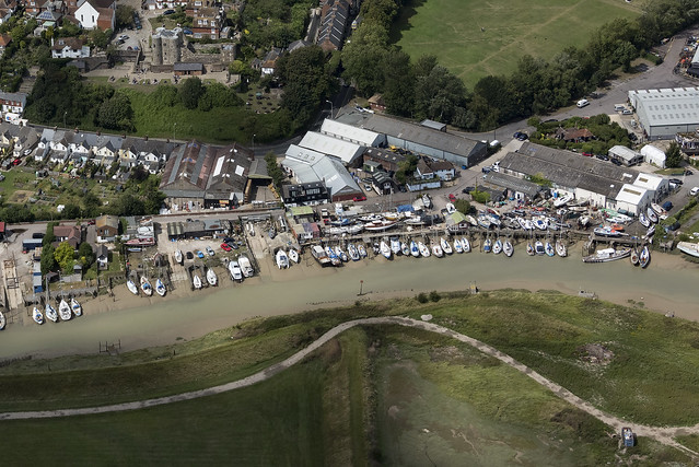 River Brede in Rye - East Sussex aerial image