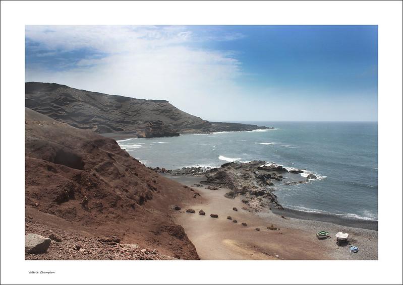V@lou  - Valérie Champion | Plage sable noir Lanzarote