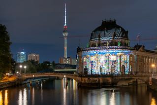 Bode-Museum beim Festival of Lights 2019, Deutschland, Berlin