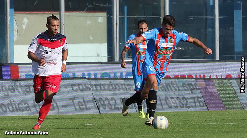 Mattia Rossetti in azione domenica scorsa col Picerno