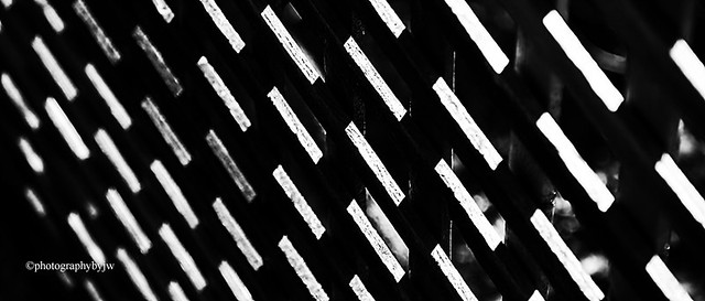 Slat Abstract Black and White