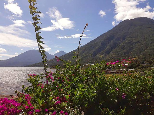 Sunday morning views from Hotel Mikaso in San Pedro la Laguna, #Guatemala. . . . . #travel #lakeatitlan #lagoatitlan #locationindependent #digitalnomad #SanPedrolaLaguna @hotelmikaso