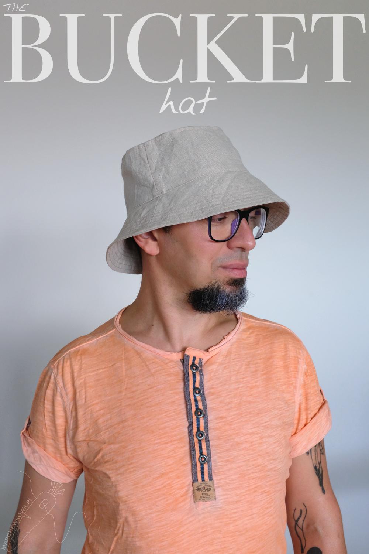 blog, marchewkowa, szycie, krawiectwo, Wrocław, rękodzieło, kapelusz, len, pan Marchewka, bucket hat, DIY, sewing, handmade