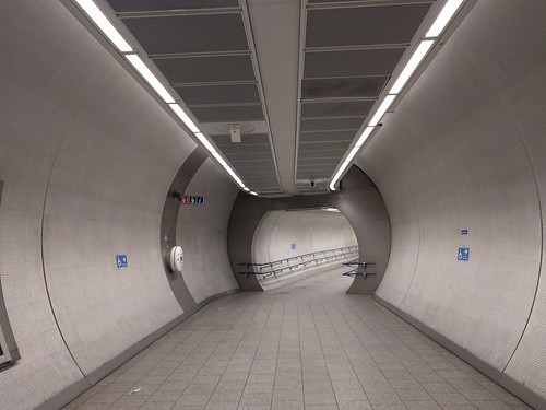 rare uncrowded part of London Underground