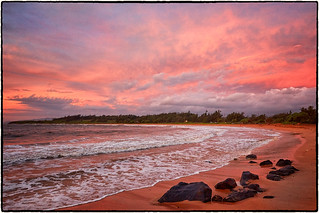 Sunrise, Kealia Beach, Kauai.