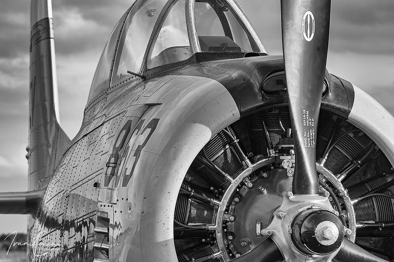 North American T-28B Trojan – Untitled – NX377WW – Leopoldsburg-Beverlo (EBLE) – 2019 09 13 – Parked – 05 – Copyright © 2019 Ivan Coninx