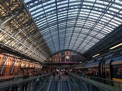 departing St Pancras International station