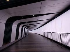 a futuristic passageway