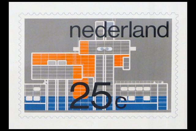 postzegel ontwerpstudie  expo 70 01 1970 crouwel w (design museum den bosch 2019)