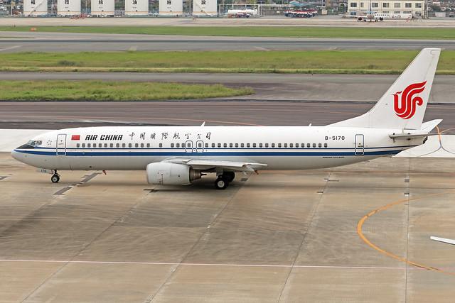 B-5170  -  Boeing 737-808  -  Air China  -  FUK/RJFF 07/10/19