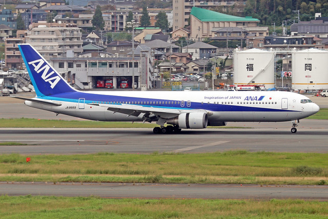 JA8669  -  Boeing 767-381  -  All Nippon Airlines  -  FUK/RJFF 7/10/19