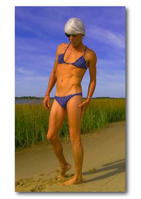 buff blue bikini