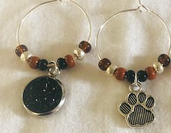 Paw love glass charms Excited to share this item from my #etsy shop: Dog Lover Glass Charms https://etsy.me/35FKikO