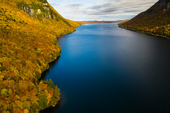 Cool lake in autumn