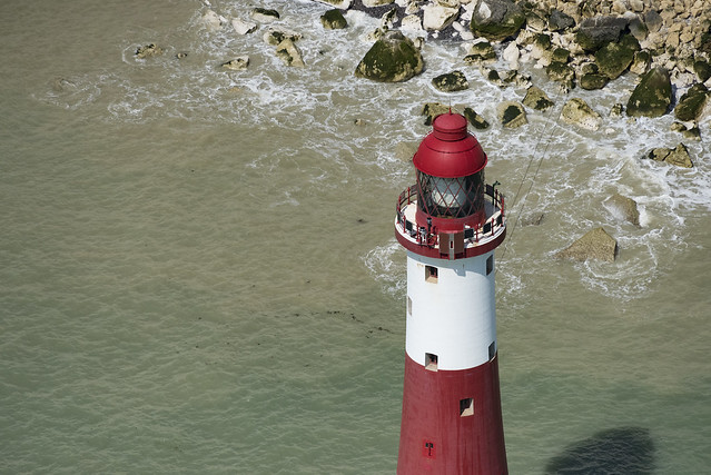 Beachy Head Lighthouse aerial image