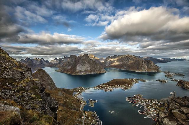 View from Mt.Reinebringen in Moskenes municipally, Lofoten islands