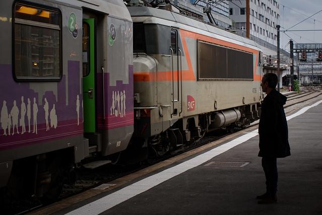 Train au départ