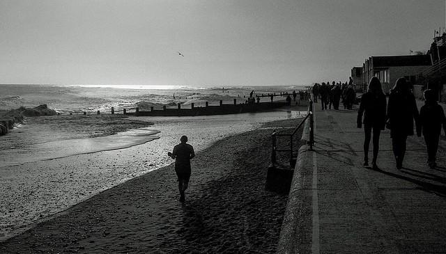 Morning run at Southwold beach